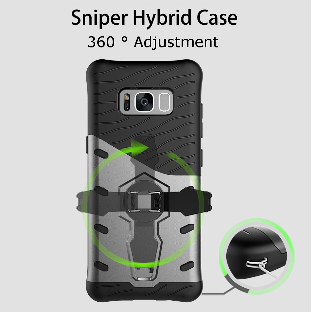 Bakeey™ Armor Rotating Bracket PC TPU Case for Samsung Galaxy S8 Plus