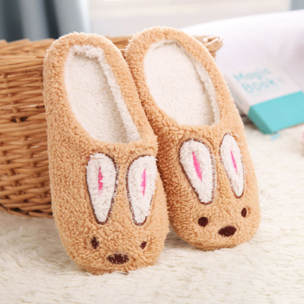 Size 36-43 Lovely Sweet Rabbit Unisex Winter Slippers Animal Pattern Home Slippers Lovers Casual Indoor Sho