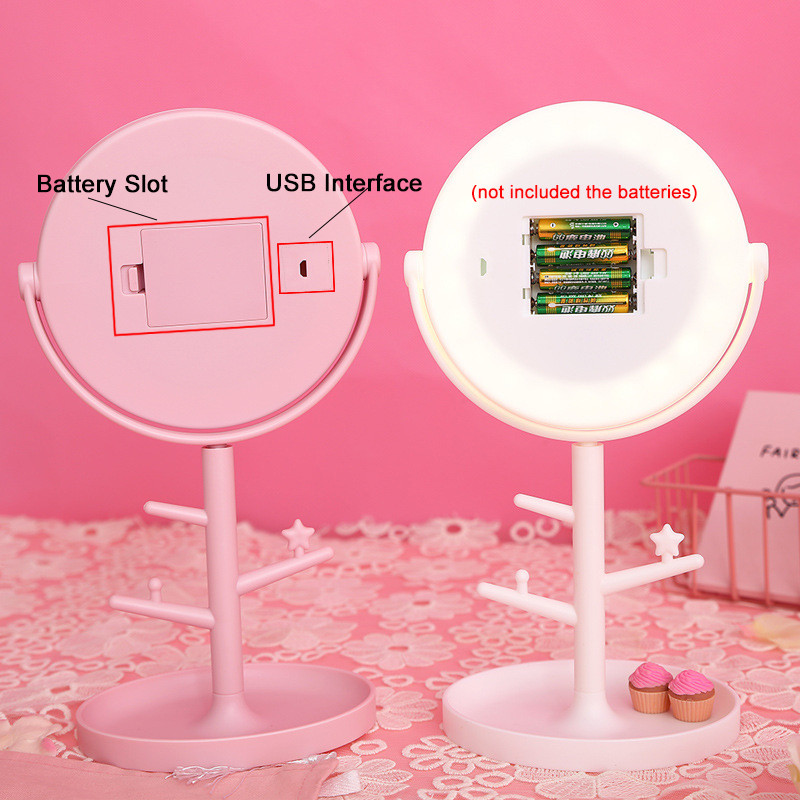 LED Tabletop Makeup Mirrors 6X Magnification