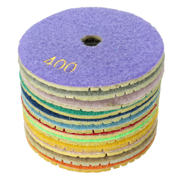 4 Inch Wet Diamond Polishing Pads 50-3000 Grit For Granite Marble Concrete