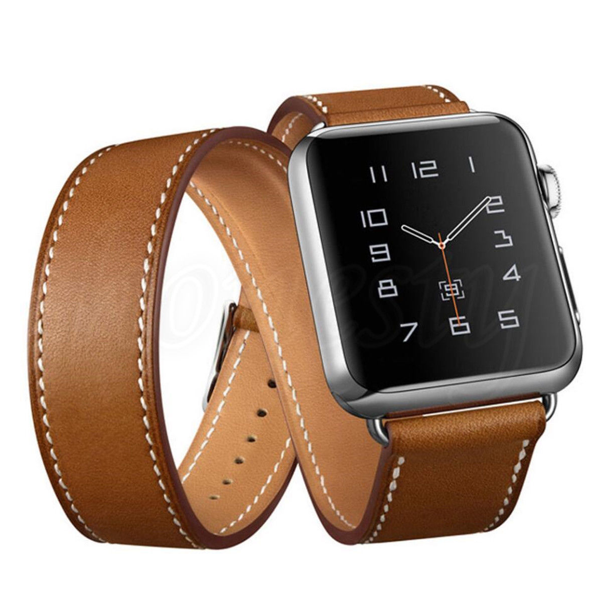Genuine Leather Watch Band Strap Replacement For Apple
