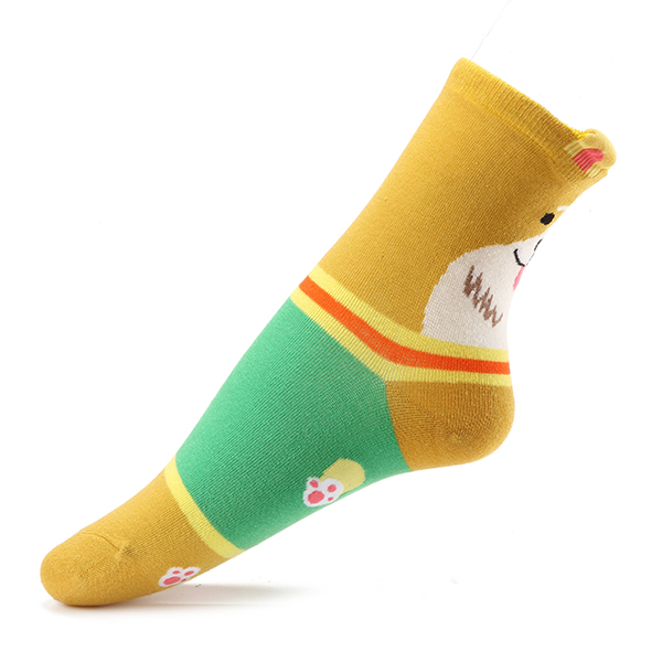 Women Ladies Girl Lovely Hot Cartoon Cat Dog Animal Stripped Cotton Lady Socks