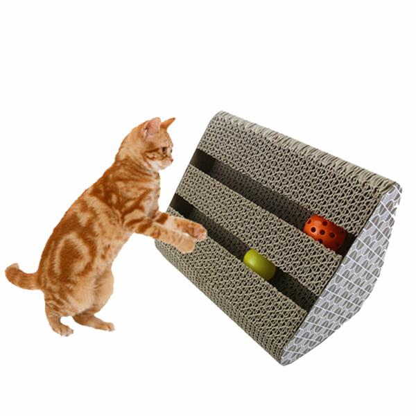 Cat Toy Kitty Scratcher Catnip Scratch Board Incline Sc