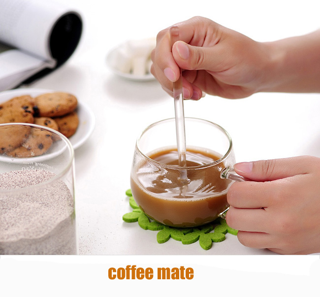 3PCS Borosilicate Transparent Glass Coffee Scoop Sugar Spoon Coffee Spoon Stirring Tools