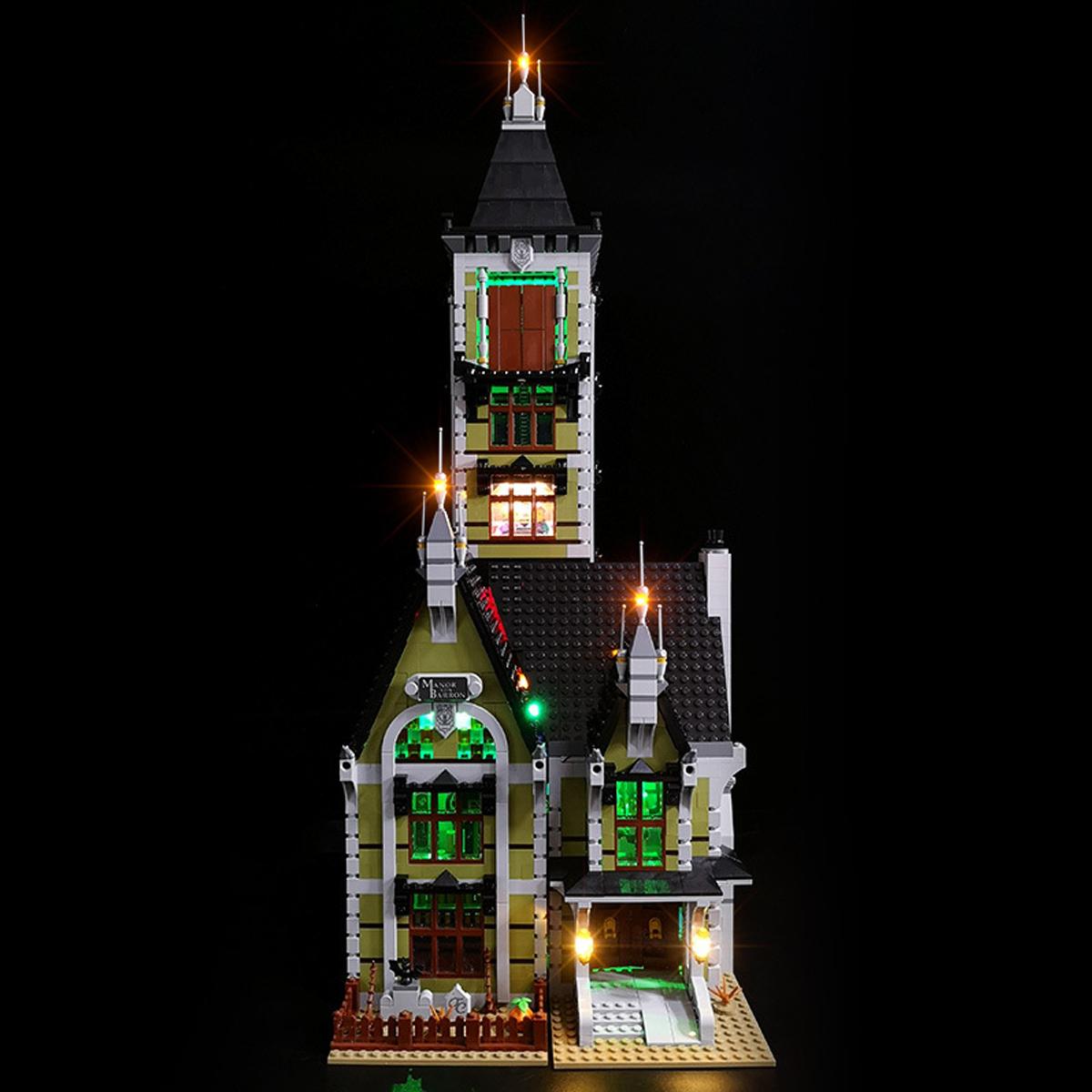 LED Light Lighting Kit ONLY For LEGO 10273 Haunted House Building Block Bricks