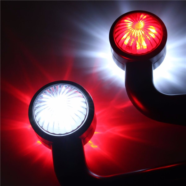 2x12V Elbow Side Outline Marker LED Light Caution Lamp Trailer Van Lorry