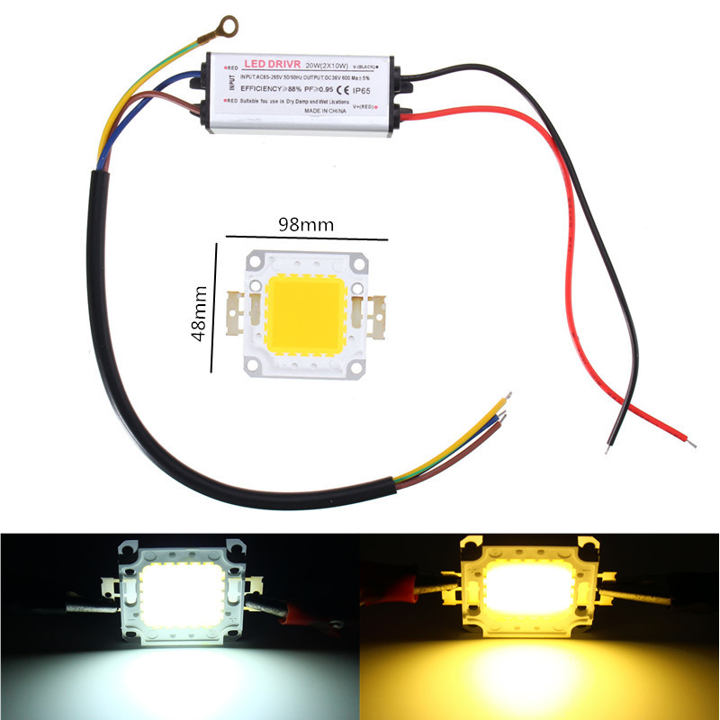 9W Waterproof High Power LED Driver Supply SMD Chip for Light AC85-265V