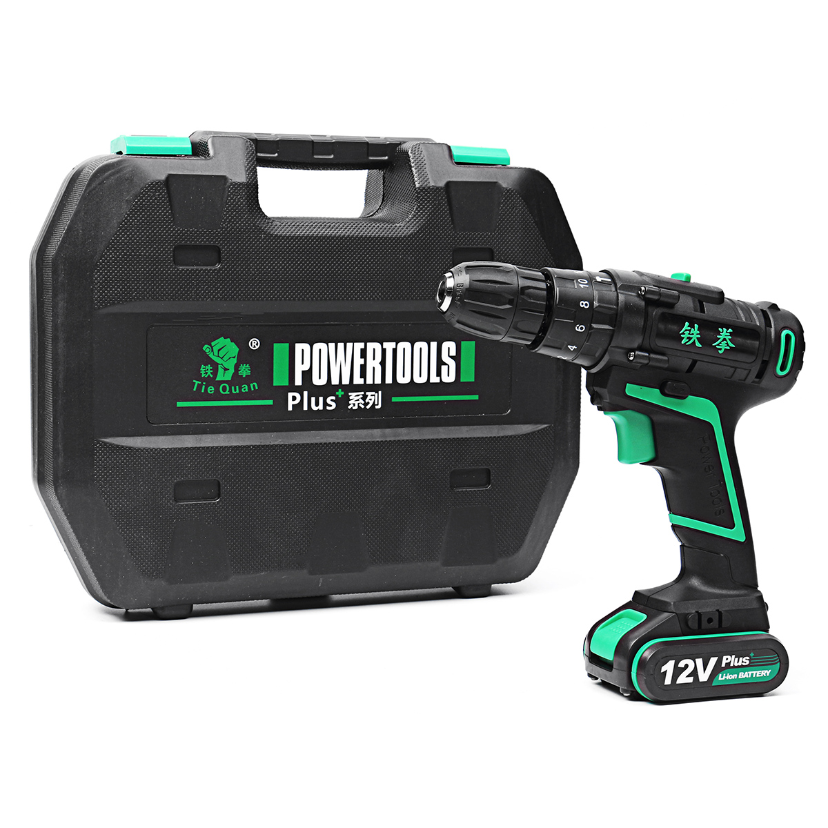 12V 1.5Ah Electric Hammer Drill Rechargeable Cordless Two Speed Power Drills with 2 Li-ion Battery