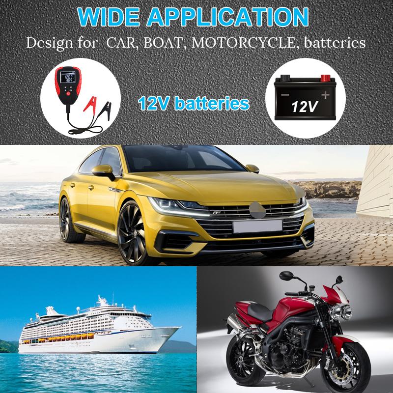 Digital 12V Car Battery Tester Automotive AH CCA Voltage Analyzer Vehicle Load Diagnostic Tool