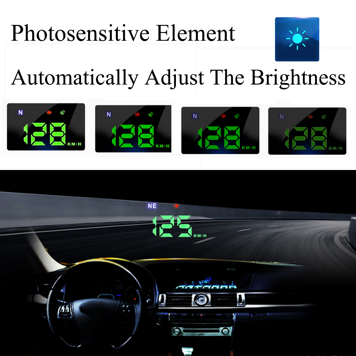 Universal Car GPS Head Up Display HUD Speed Alarm Digital Wind Shield Projector