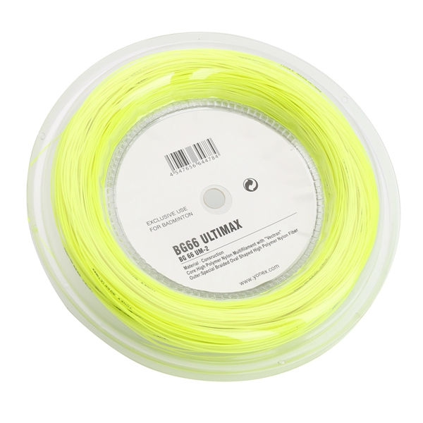 BG66 UM 200m Badminton Racquet String Coil High Polymer Reel Yellow String