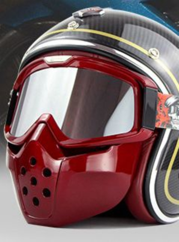 Mountain Bike Windproof Helmet Goggles With Removable Mask Motorcycle Riding For CYCLEGEAR
