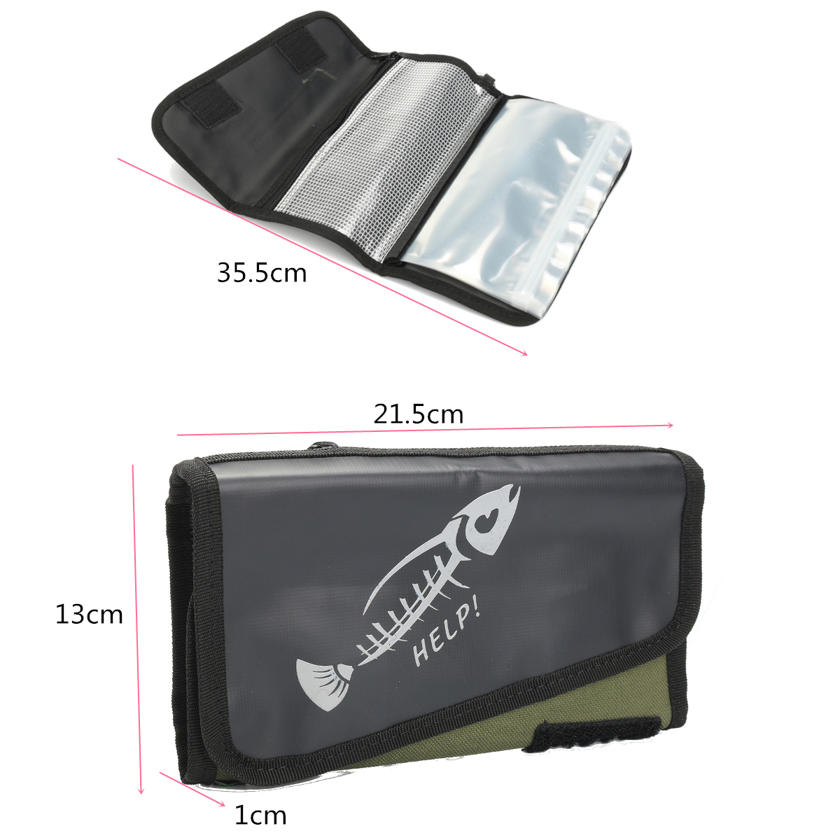 ZANLURE Fishing Spoon Lure Tackle Bag Portable Waterproof Wallet Spinner Storage Bag