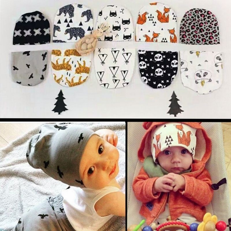 Infant Lovely Animal Hat Winter Warm Crochet Knit Hats Beanie Cap Boy Baby