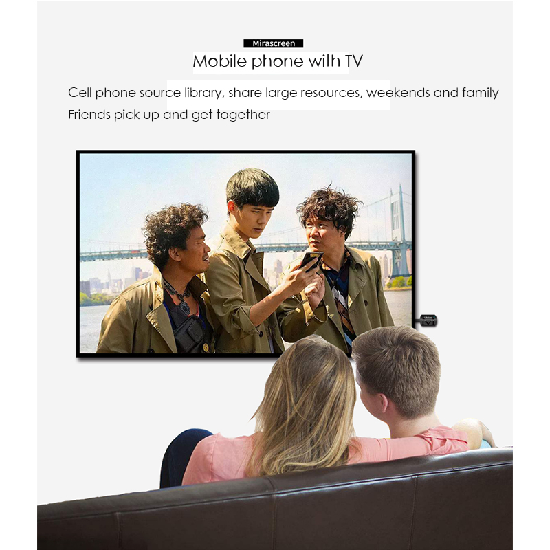 MiraScreen G4 HD Mutimedia Interface WiFi Display Dongle Receiver Miracast for Mini PC Android TV