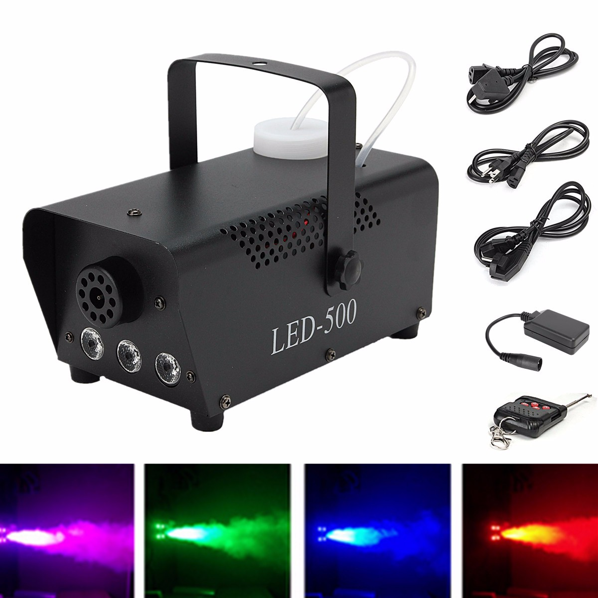 Mist Maker 400W Wireless Control Fog Machine Pump DJ Disco Smoke Machine Weedding Party Stage Lamp Black Machine
