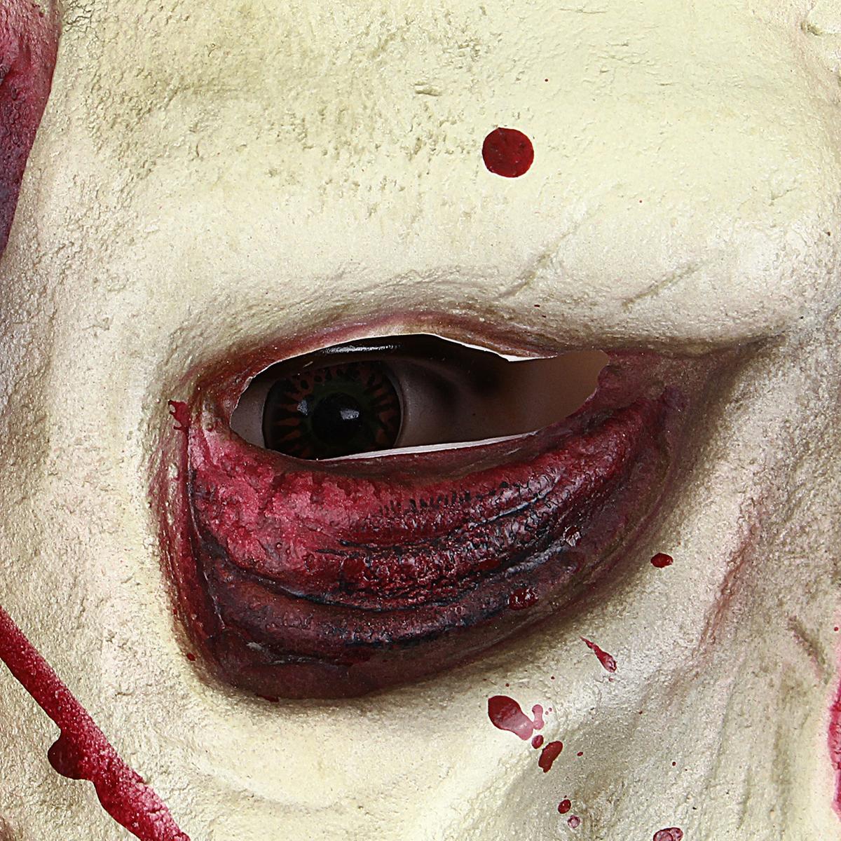 Scary Devil Zombie Latex Mask Halloween Cosplay Horror Monster Full Face Mask