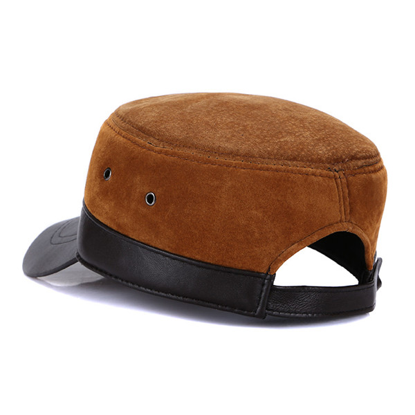 Men Winter Warm Military Flat Top Cap Casual Outdoor Sun Visor Baseball Hat