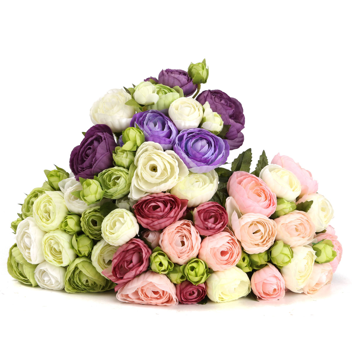 10 Heads Artificial Silk Flower Camellia Wedding Bouquet Party Home Decoration