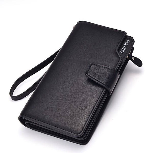 Men Leather Business Long Wallet Credit Card Organizer Wallet with 21 Card Slots