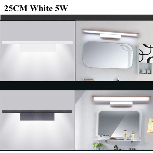5W Modern LED Wall Light Bathroom Mirror Wall Sconce 25CM Lamp AC85-265V