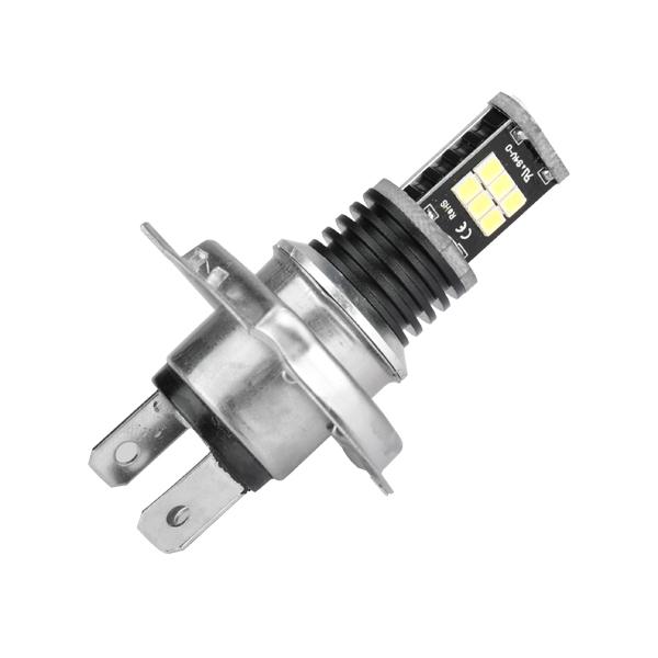 H4 15W 700Lm 12-24V White LED Headlight Bulb Car Fog Light