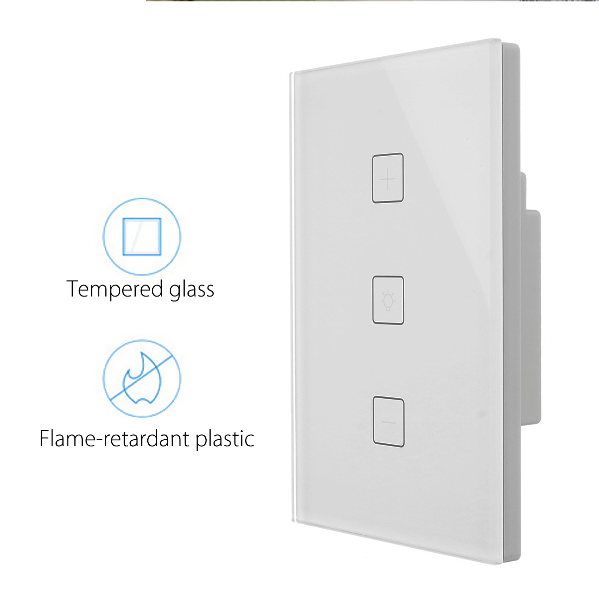 100-240V 10A Wireless Smart Lighting Dimmer Switch Wall Socket Switch Panel