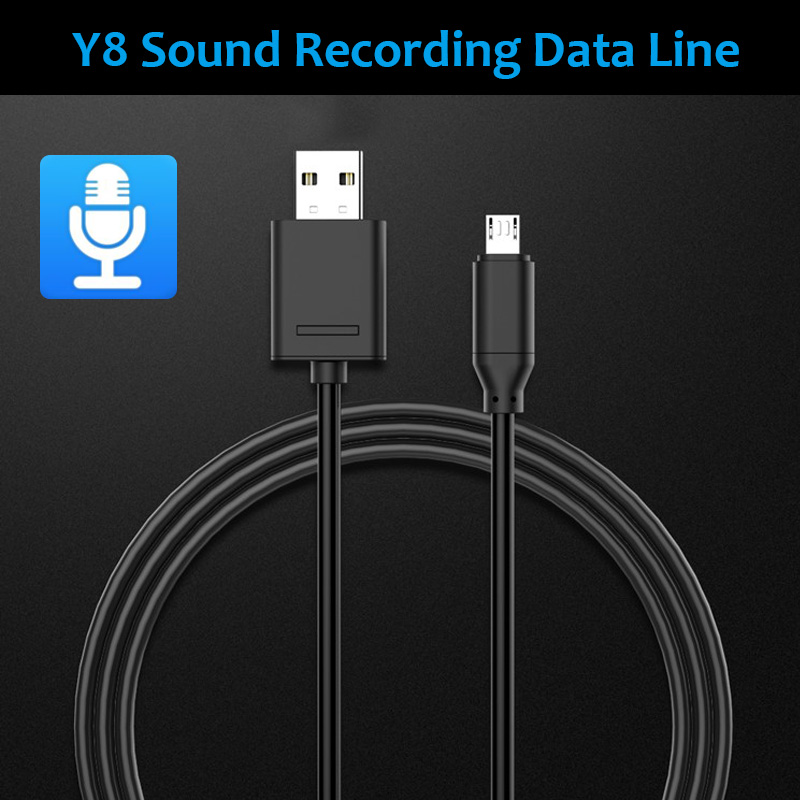 Y8 Sound Recording 32G Memory Card Micro USB Data Charging Cable 1M for Samsung Xiaomi HUAWEI
