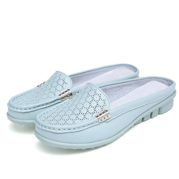 US Size 5-11 Women Slipper Shoes Casual Flat Hollow Out Sandals