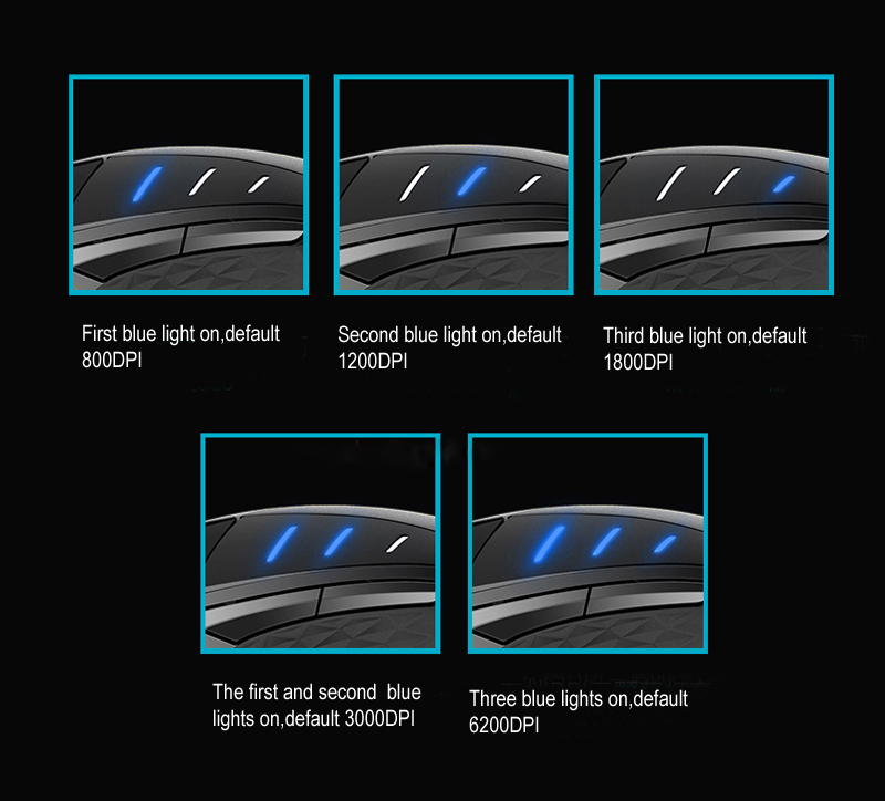 Rapoo VT300 6200DPI IR Optical USB Wired Gaming Mouse 10 Programmable Buttons RGB Light Game Mice