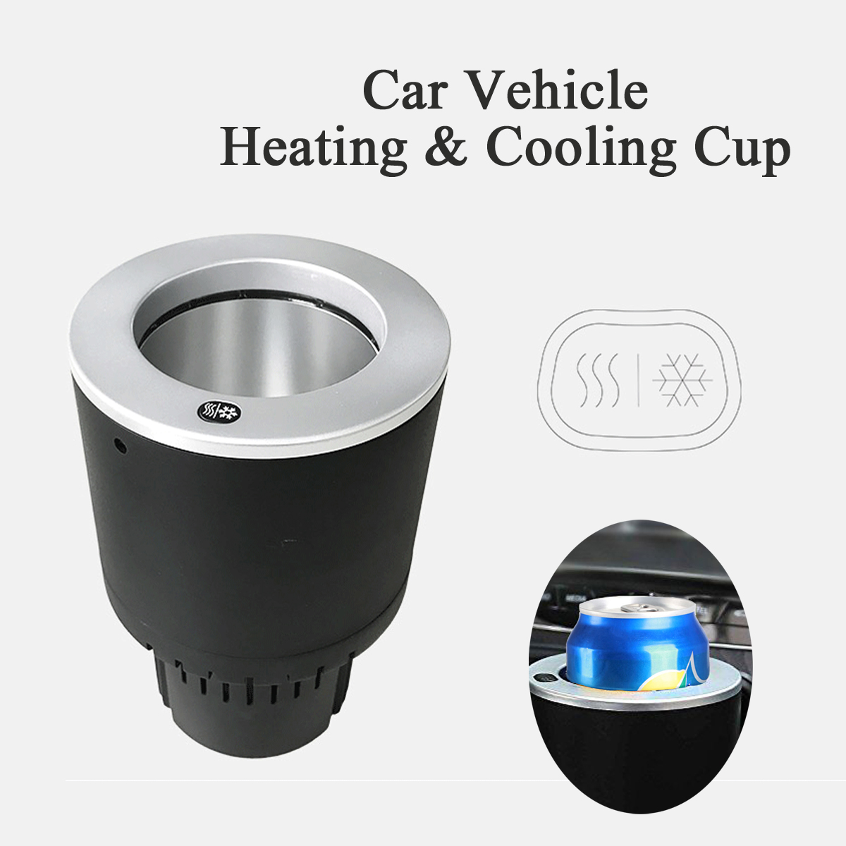 Portable 12V 20W Car Vehicle Heating Cooling Can Cup Holder Drink Heater Cooler
