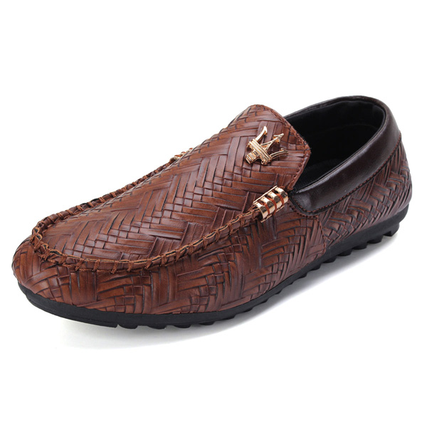 Men Comfy Leather Casual Slip On Loafer Shoes Moccasins Driving Shoes