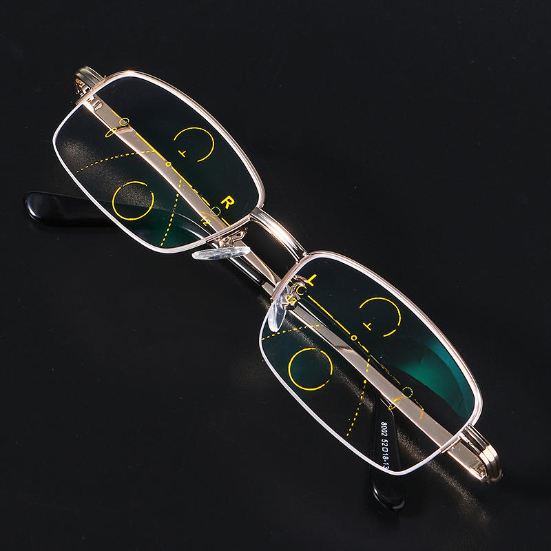KCASA Intelligent Reading Glasses Progressive Multifocal Lens Presbyopia Alloy Frame Anti Fatigue