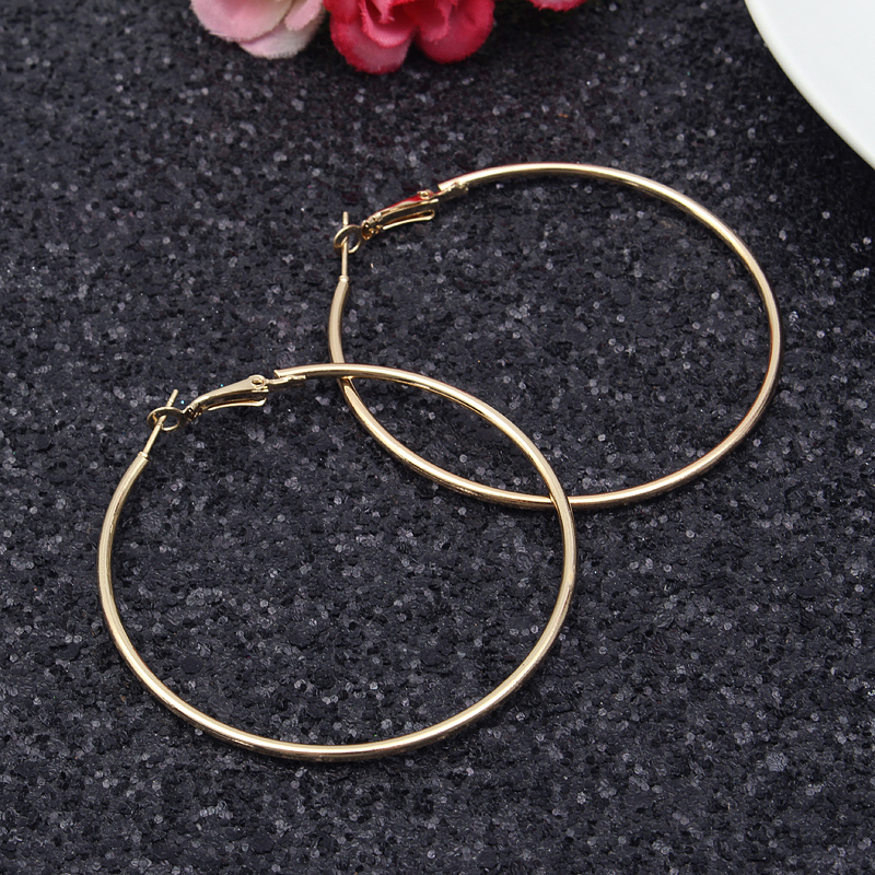 Exaggerated Large Circle Ring Hoop Women Earrings