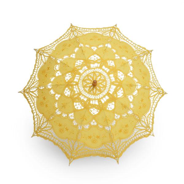 Victorian Battenburg Lace Sun Parasol Umbrella for Wedding Party Photo Studio Equipments