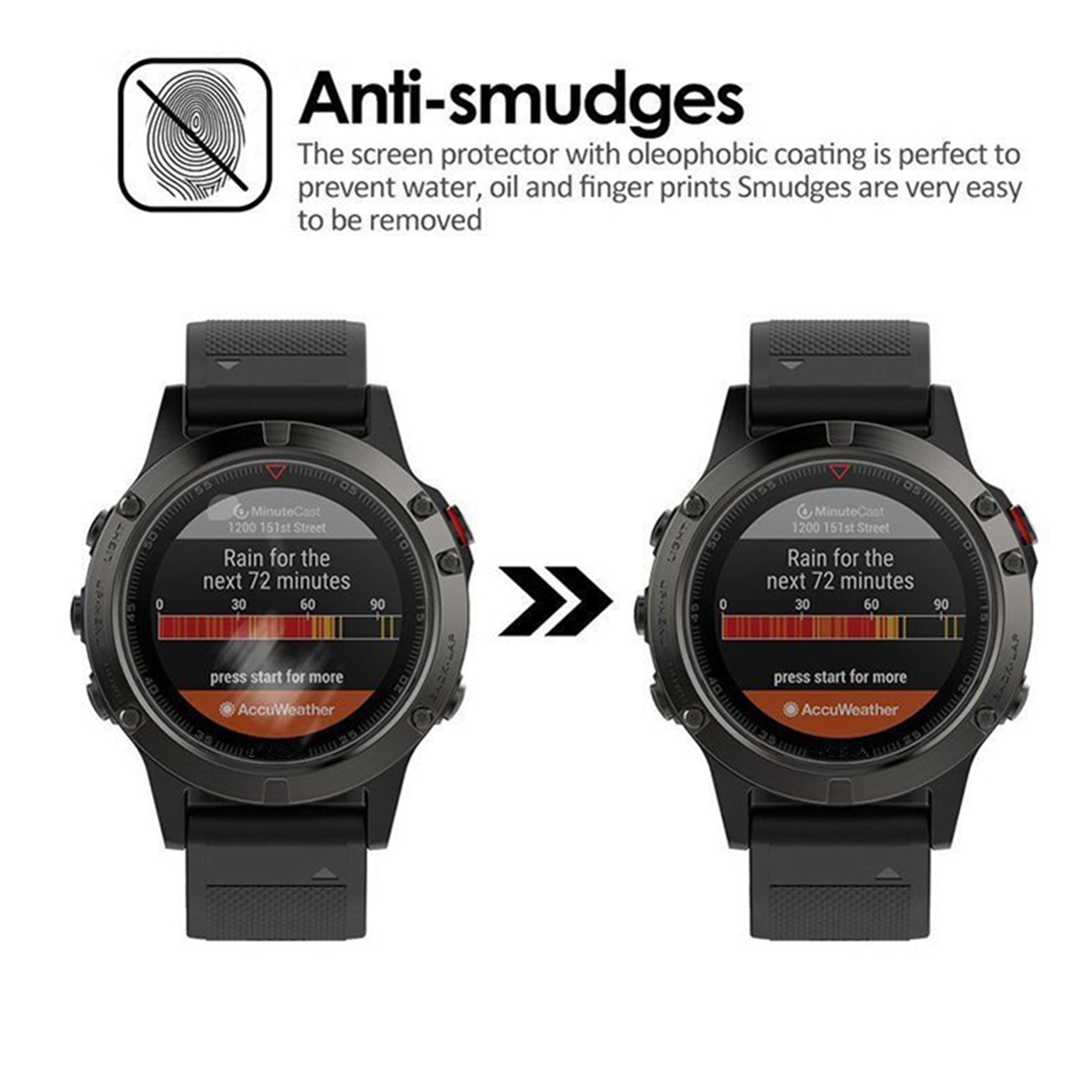 Transparent Tempered Glass Screen Protector Film Guard For Garmin Fenix 5 Watch