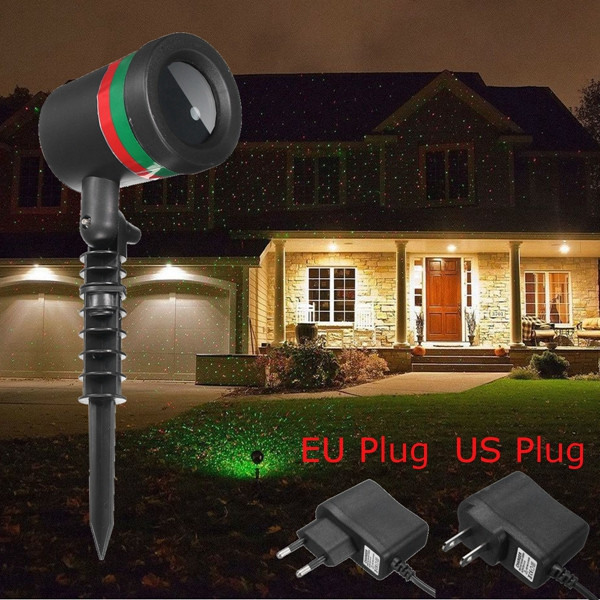 15W Red & Green Star Shower Laser Stage Light Outdoor Christmas Party Wedding Decor