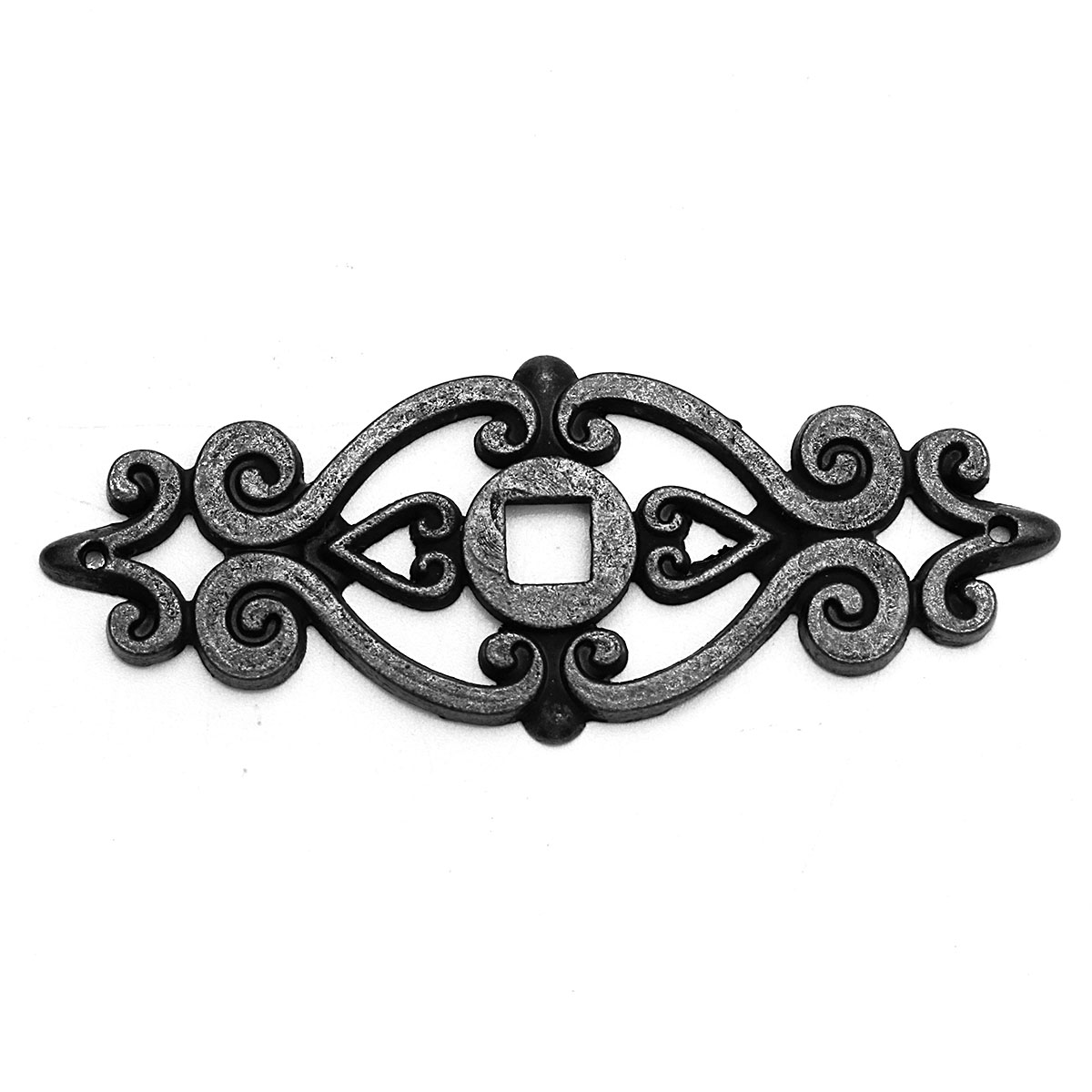 10Pcs Black Antique Cabinet Door Drawer Cupboard Ring Pull Handle Retro Knob
