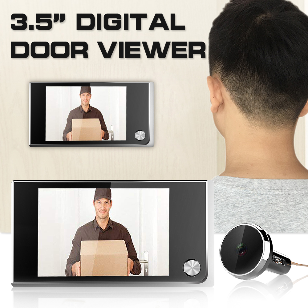 Digital Door Viewer Doorbell Security Camera Electronic Cat Eye 3.5