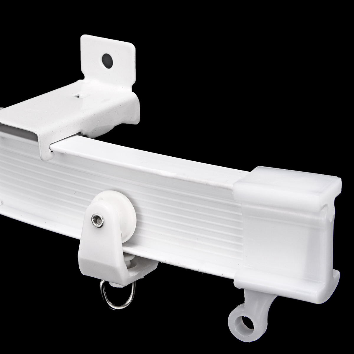 5M Curtains Track Rail Flexible Ceiling Mounted For Straight Slide Window Balcony