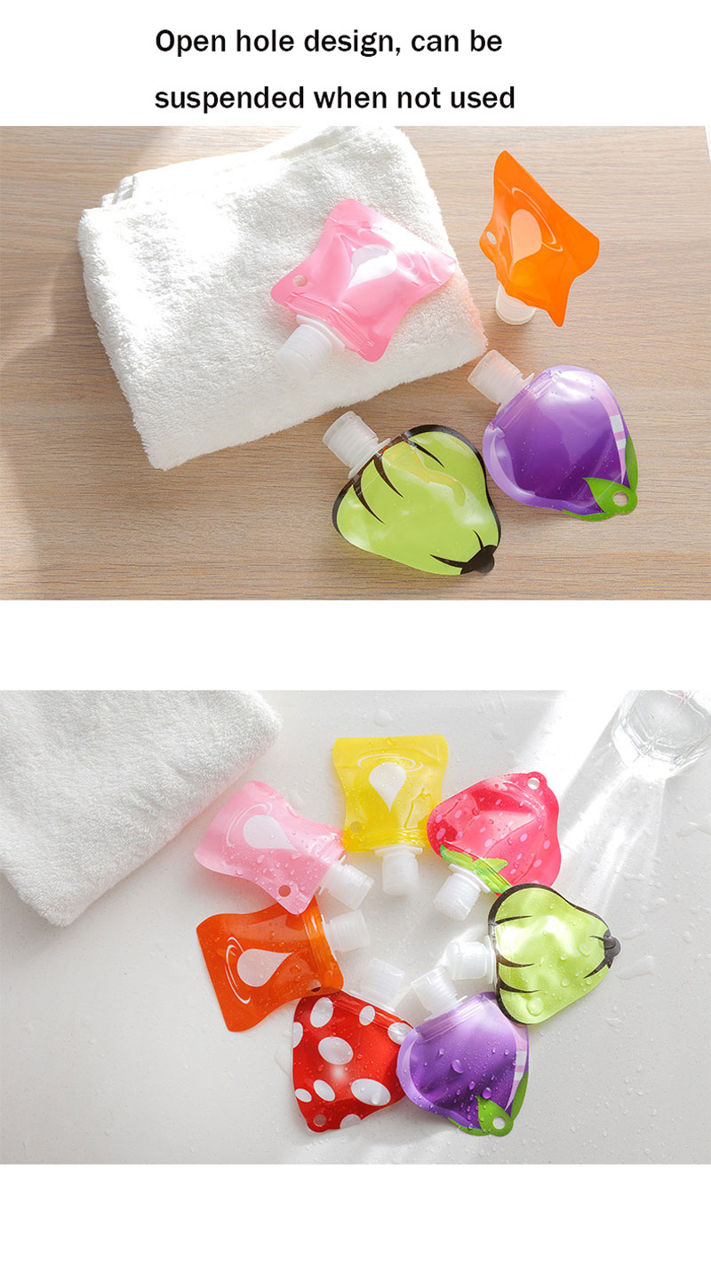 Outdoor Travel Silicone Empty Shampoo Lotion Bottles Bath Foam Cosmetic Container Hand Sanitizer