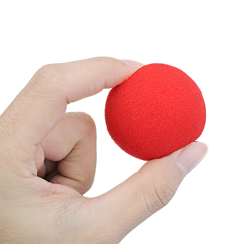 3PCS Kingmagic Magic Ball To Square Sponges Tricks Set Red