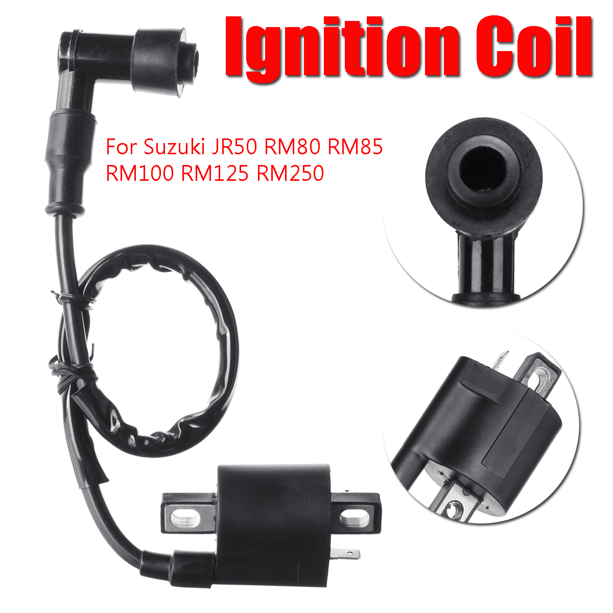 Ignition Coil Replacement For Suzuki JR50 RM80 RM85 RM100 RM125 RM250