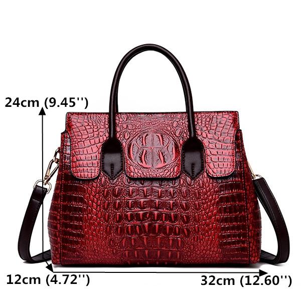 Women Retro Crocodile Pattern Handbag