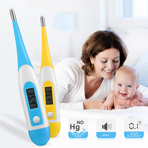 KCASA KC-CET6 Baby Digital Medical Accurate Fast Thermometer Infant Clinical Oral Rectal Thermometer
