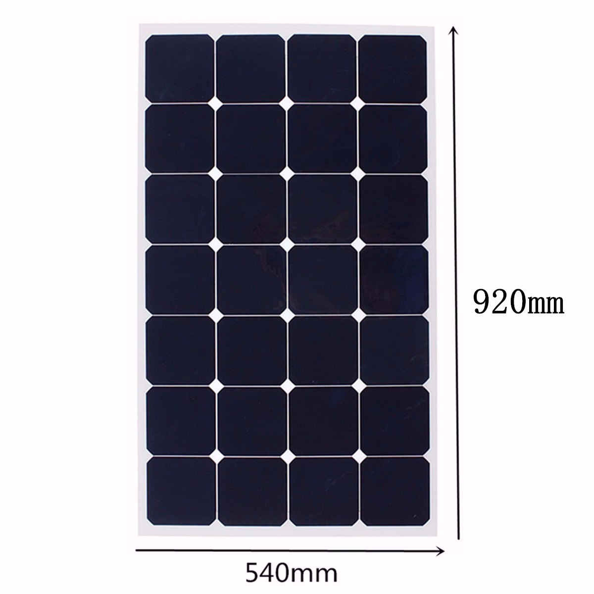 80W 12V Mono Semi Flexible Solar Panel Battery Charger For Caravan Boat Camping