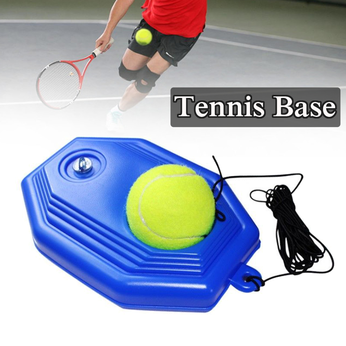 Tennis Training Base Tool Exercise Self-study Rebound Ball Baseboard Set