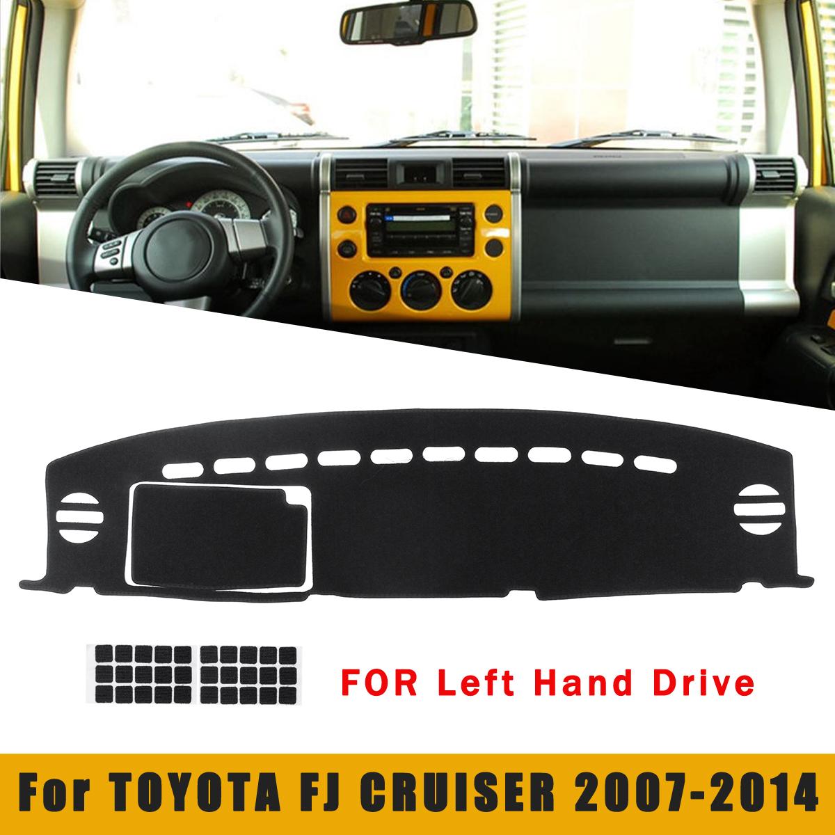 Black Car Dash Mat Dashmat Dashboard Cover Pad Sunshade for TOYOTA FJ CRUISER 2007-2014