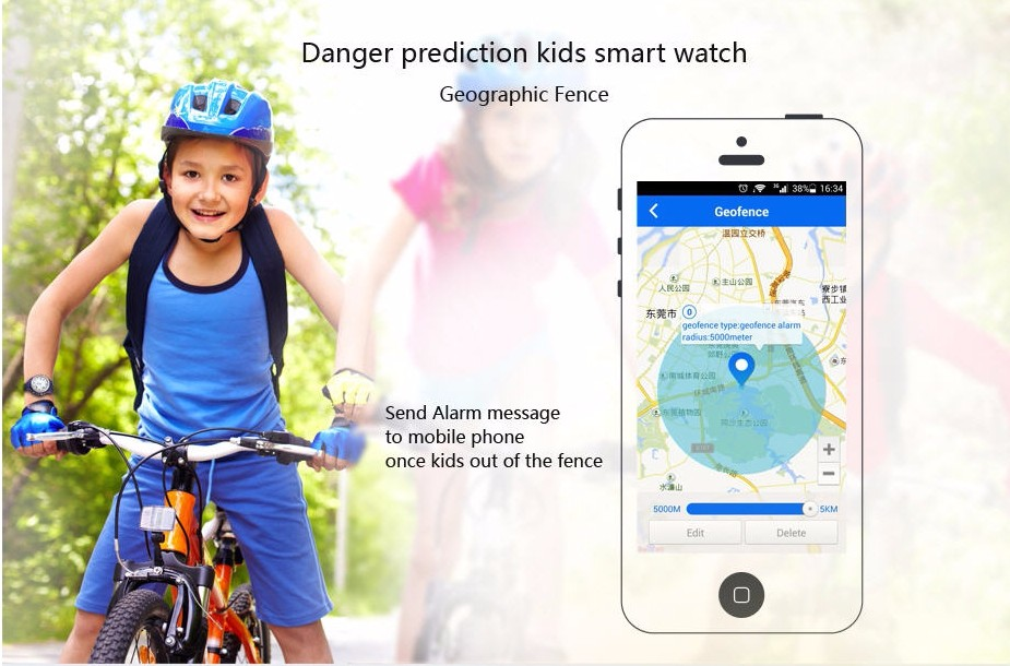 TOP Watch MTK6260 Wireless Charge GPS Tracking Geographic Fence SOS Kids' Smart Watch