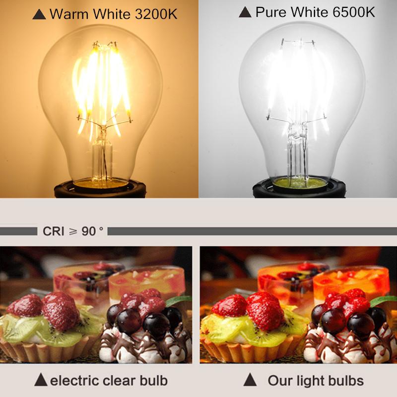 E27 4W White/Warm White COB LED Filament Retro Edison Bulbs 85-265V